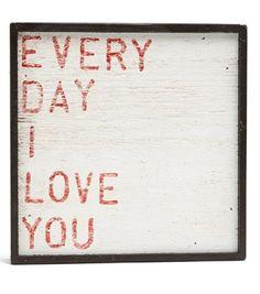'Every Day I Love You' Vintage Framed Art Print