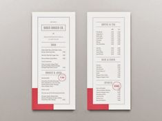 25 Well Designed Restaurant Menus You'll Definitely Love - Jayce-o-Yesta Menu Restaurant, Bar Menu, Restaurant Design, Restaurant Identity, Drink Menu Design, Cafe Menu Design, Web Design, Graphic Design, Food Design