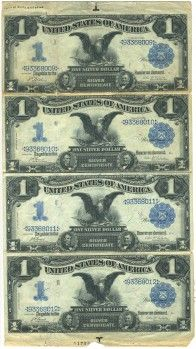 US 1 Dollar Note Series of 1899 Serial Signatures: Lyons/Roberts Eagle Portraits: Abraham Lincoln & Ulysses S. Bullion Coins, Silver Bullion, Old Coins, Rare Coins, Money Notes, Coins Worth Money, Valuable Coins, Coin Worth, Money Bank