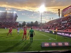 Hindmarsh Stadium looking splendid on a lovely Friday evening in the match between Adelaide United and Melbourne City. Photo by @reverendrobp10. #ALeague 17.03.18