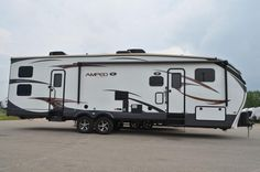 ADVENTUROUS EXTREME TOY HAULER!!!  2015 EverGreen Amped 32GS This is a rig that can keep up with your adventurous lifestyle! A 12' garage is plenty of room for your big toys, which you can keep fueled up at the awesome fuel station! This model sleeps 8 people, so bring the whole crew along! The 32GS is 36' long and has a shipping weight of 9,940 lbs. dry. Give our Amped expert Mike Taravella a call 517-604-1908 for pricing and more information.