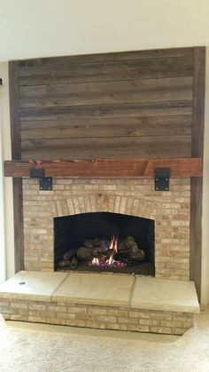 Placed The Last Board On Our Fireplace