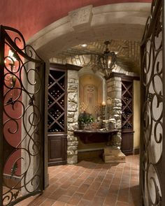*Wine cellar with old world charm. ( :