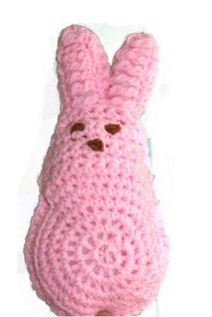 Large Crochet Bunny Peep - free crochet pattern