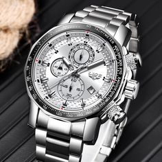 Relogio Masculino LIGE New Sport Chronograph Mens Watches Top Brand Luxury 6