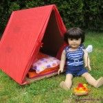 "How to make a tent for 18"" dolls"