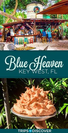 Indulge in Key Lime Pie at The Iconic Blue Heaven in Key West - One of the most iconic restaurants in all of Florida, Blue Heaven in Key West is a funky haven know - Florida Vacation, Florida Travel, Florida Beaches, Florida Blue, The Florida Keys, Marathon Florida Keys, Islamorada Florida, Miami Florida, Key Lime Pie