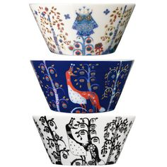 Iittala Taika Oz Pasta Bowl, Blue/Multi, Crafted by skilled artisans of glossy vitro porcelain, this stunning bowl will draw attention with its artful enchanted forest motif. Blue Magic, Magic S, Design Bleu, Casual Dinnerware, Eclectic Dinnerware, Blue Bowl, Form Design, Design Elements, Print Design