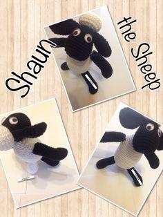 Shaun the Sheep cartoon toy amigurumi crochet UnciMatto