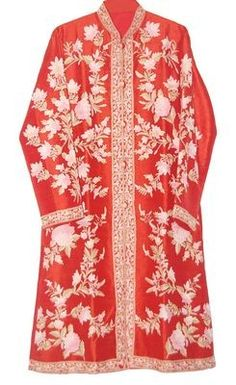 A beautiful orange silk coat