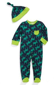 Offspring 'Moose' One-Piece & Hat (Baby Boys) available at #Nordstrom