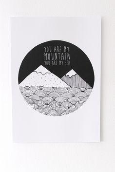 Biffy Clyro Mountains Print Lloyd Loves