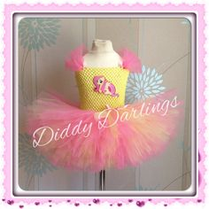 Fluttershy Tutu Dress. My Little Pony Dress. Pink and Yellow Dress. Princess Tutu Dress. Beautiful & lovingly handmade.  Price varies on size, starting from £25.  Please message us for more info.  Find us on Facebook www.facebook.com/DiddyDarlings1 or our website www.diddydarlings.co.uk