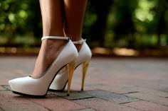 Another way to wear these gorgeous Lanvin pumps. I love a gold trim and golden heel.To see my look on my blog.