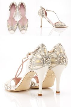 The Francesca shoes by Emmy - In love with these shoes for a vintage, deco, Gatsby-esque wedding