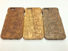 PEACE LOVE CARVED WOODEN PROTECTOR CASE SOLID WOOD FOR APPLE IPHONE 6 PLUS    eBay