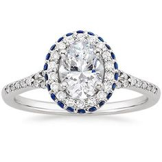 18K White Gold Circa Diamond Ring with Sapphire Accents from Brilliant Earth i I think it would be gorgeous with emeralds instead of saphires