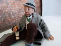 Drunken Frank 12th scale miniature doll house character