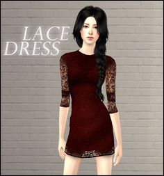 Mod The Sims - Lace Dress