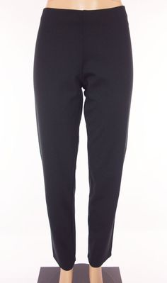 EILEEN FISHER Pants Size M Medium Black Business Casual Flat Front Travel #EileenFisher #CasualPants