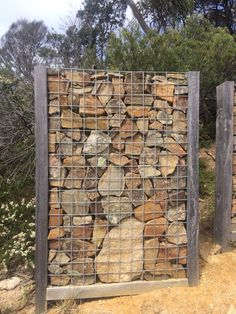 Gabion wall nicely framed