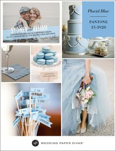 Pantone Placid Blue Inspiration Board