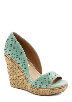 Main Street Meander Wedge in Mint. Today, your vacation takes you to a sweet seaside town, which youre ready to explore in these mint wedges! Me Too Shoes, Mint Wedges, Shoe Boots, Shoes Heels, Pumps, Vintage Heels, Retro Vintage, Mode Shoes, Designer Shoes