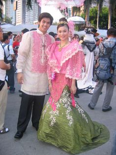 Santacruzan (an enactment of Reyna Elena with Constantine in search of the Holy Cross)