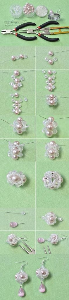 Tutorial on How to Make a Pair of Small Pink Beaded Ball Dangling Earrings from LC.Pandahall.com | Jewelry Making Tutorials & Tips 2 | Pinterest by Jersica