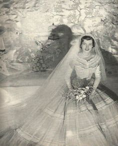 on May 23 1953 at St. Patrick's Cathedral in New York City Eunice Mary Kennedy married Robert (Sarge) Sargent Shriver Jr. on May 23 1953 at St. Patrick's Cathedral in New York City Eunice Kennedy Shriver, Wedding Dress Trends, Wedding Dresses, Types Of Gowns, Traditional Gowns, Caroline Kennedy, Bridal Skirts, Bridal Cape, Beautiful Wedding Gowns