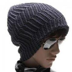 men's hat... looks good but needs a pattern... zig-zag... beg ch 40ish?.