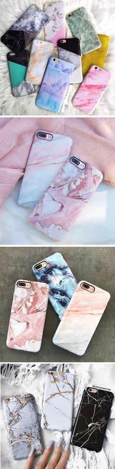 US$3.69 Painted Marble Soft TPU Phone Cases For iphone 7 Plus 6 6s Creative Mobile Phone Protective Cover http://amzn.to/2rwqPgY