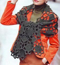 Crochet Shawls: Free Crochet Pattern - Elegant Shawl Wrap For Women
