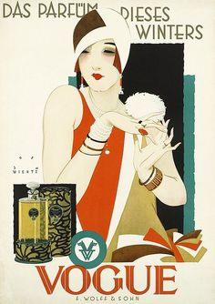 Buy online, view images and see past prices for RARE Original VOGUE Art Deco Poster Plakat WIERTZ. Invaluable is the world's largest marketplace for art, antiques, and collectibles. Vogue Vintage, Capas Vintage Da Vogue, Vintage Vogue Covers, Vintage Fashion, Old Posters, Posters Vintage, Retro Poster, Art Deco Posters, Art Deco Illustration