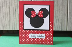 Minnie Mouse Handmade Card por HootandTootsLoot en Etsy