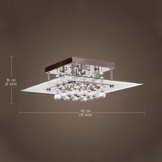 Fashion Crystal 3WCeiling Light Pendant Lamp Fixture Lighting Chandelier Bedroom #ouku #ModernComtemporary