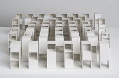 repeticion, despersonalizacion ____  Sol Lewitt's 'Variations on three types of cubes'. They remind me so much of some of houses of Japanese architects Sanaa.