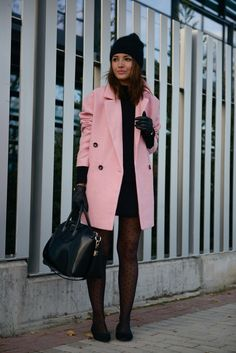 lovely pink coat bmodish