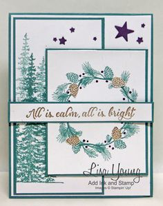Stampin' Up! Wonderland stamp set. Handmade Christmas card by Lisa Young, Add Ink and Stamp