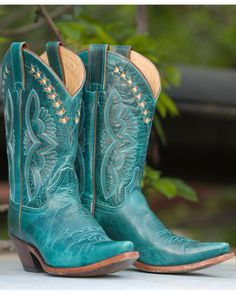 Justin | Women's Turquoise Damiana Boot - L4302 | Country Outfitter
