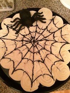 Spider Web pull apart cake...