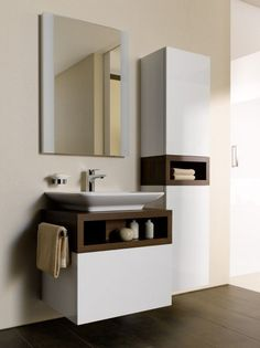 bathroom wall storage cabinets for small bathroom Bathroom Interior Design, Wall Storage Cabinets, Bathroom Cabinets Designs, Mirror Wall Living Room, Small Bathroom Layout, Small Bathroom Vanities, Bathroom Wall Storage, Bathroom Design Luxury, Washbasin Design