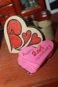 1st monthsary gift me being sweet 3 monthsary ideas 2nd month 3 monthsary remembrance diy cute love heart negle Gallery