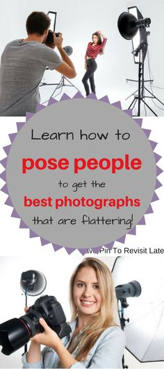 Love #photography? Learn how to #pose people so they look the most flattering and so do your #photos! Save pin to revisit later.