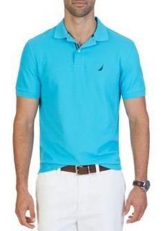 Nautica Calypso Blue Classic Fit Performance Deck Polo Shirt