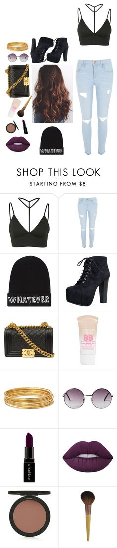 """""""Live life to the fullest"""" by thearocks ❤ liked on Polyvore featuring Oh My Love, River Island, Local Heroes, Speed Limit 98, Chanel, Maybelline, Bold Elements, Monki, Smashbox and Lime Crime"""