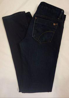 Joe's Jeans Cigarette skinny jeans Muholland dark denim SZ 27 X L35 #JoesJeans #SlimSkinny