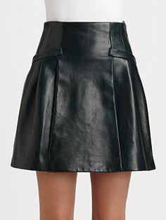 Milly leather skirt- chic @M ! by Michelle Smith