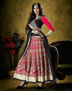 Designer Party Wear Inspiring Salwar Kameez Red by JTInternational