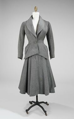 Suit Charles James  Date: 1948 Culture: American Medium: wool, silk Accession Number: 2009.300.199a–d